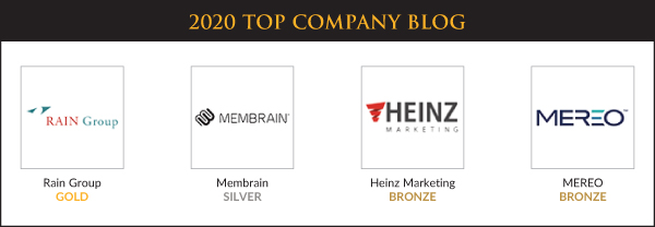 Top Sales & Marketing Awards 2020 - Company Blog - Winners