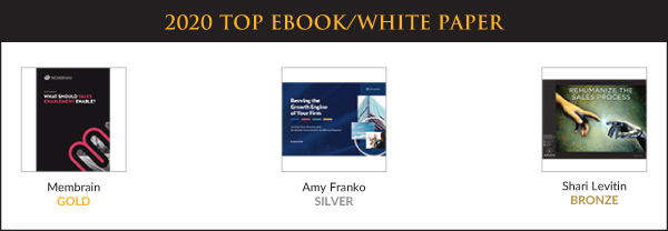 Top Sales & Marketing Awards 2020 - eBook/White Paper - Winners