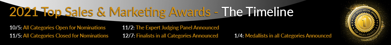 Dates for Top Sales & Marketing Awards 2021